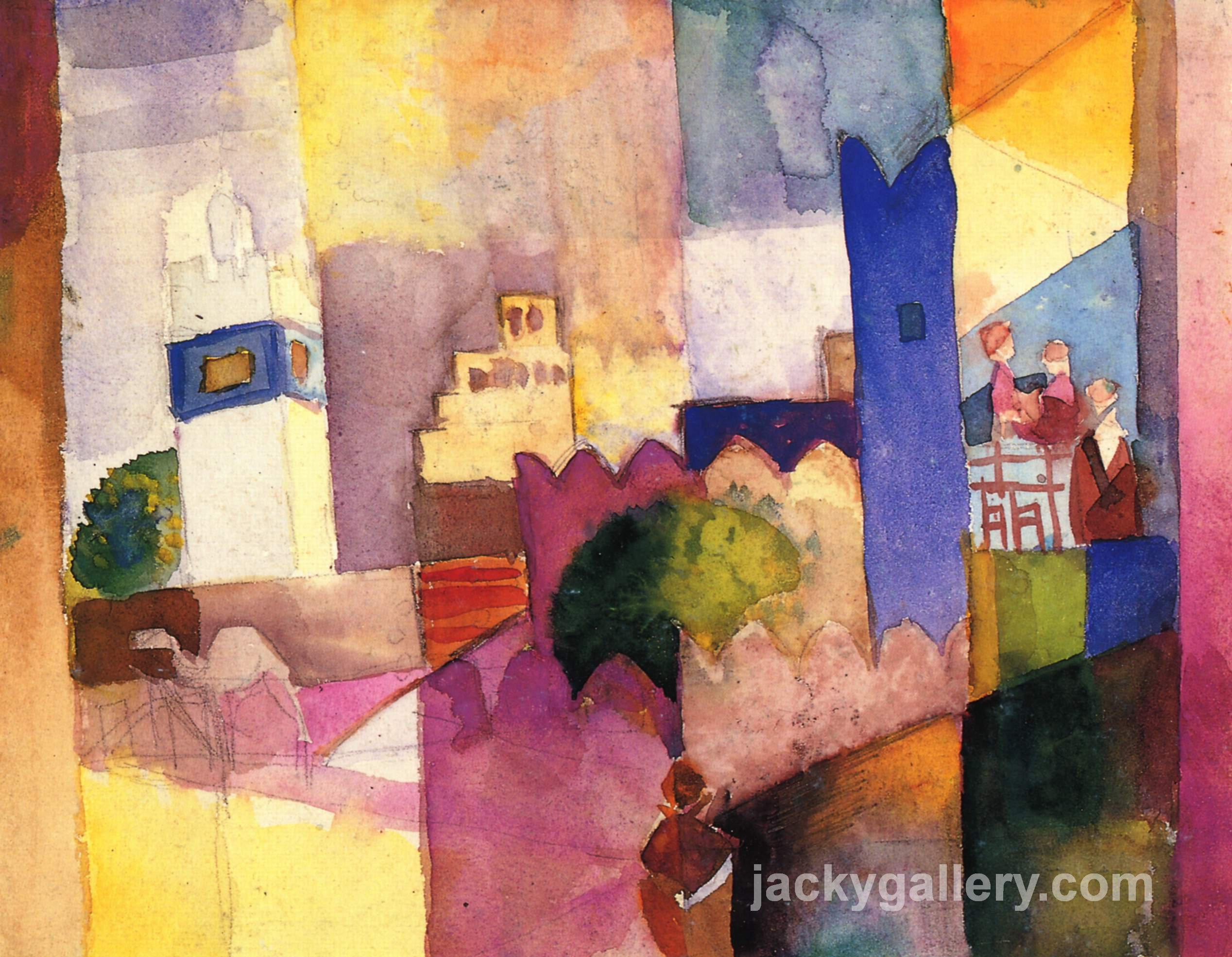 Kairouan (III), August Macke painting