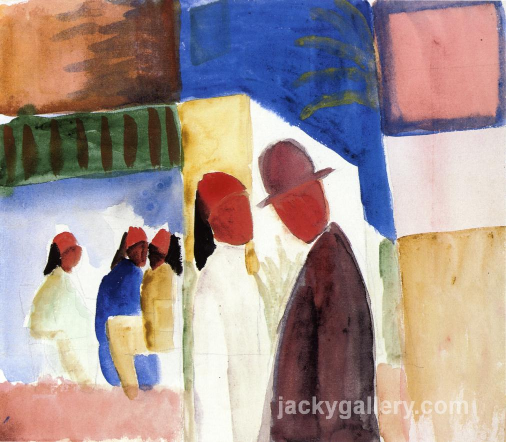 On the Street, August Macke painting
