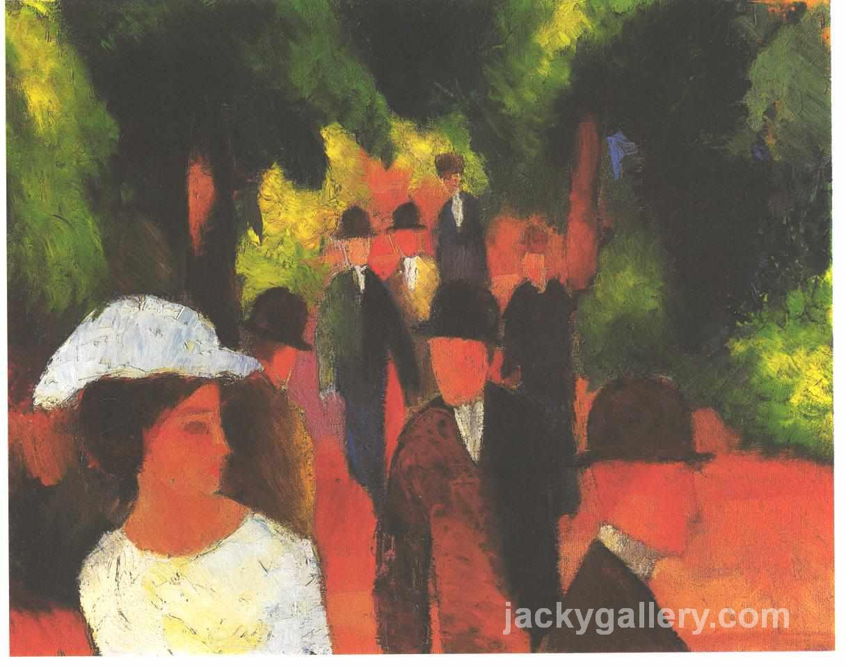 Parkway, August Macke painting