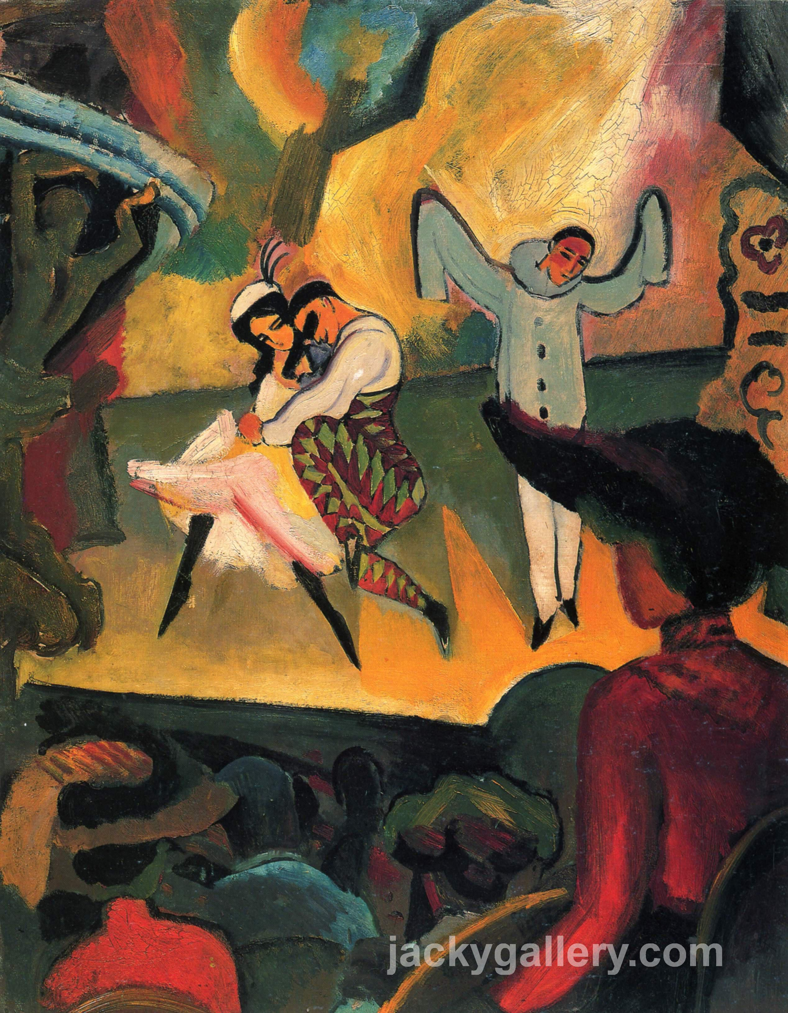 Russisches Ballett (I), August Macke painting