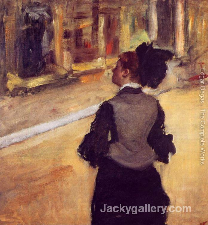 A Visit to the Museum by Edgar Degas paintings reproduction