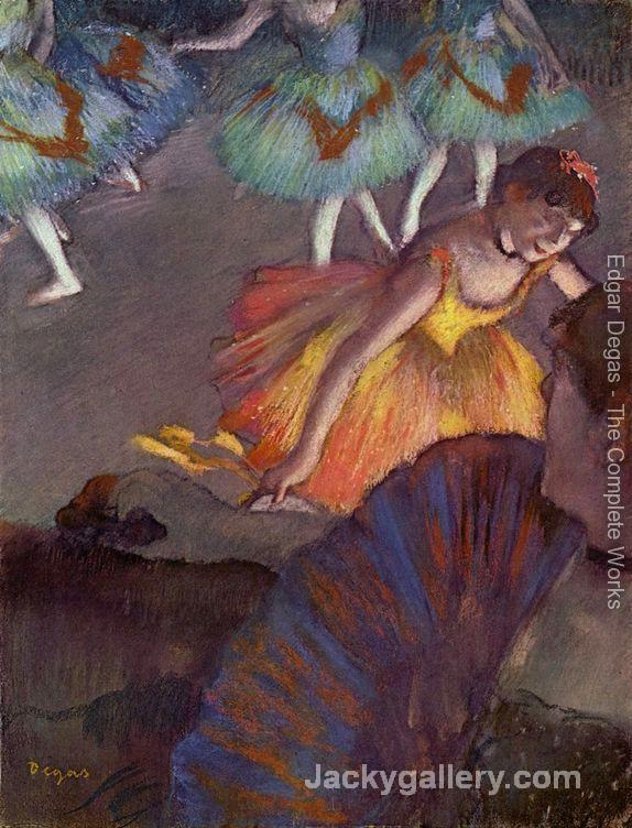Ballet, seen from a loge by Edgar Degas paintings reproduction