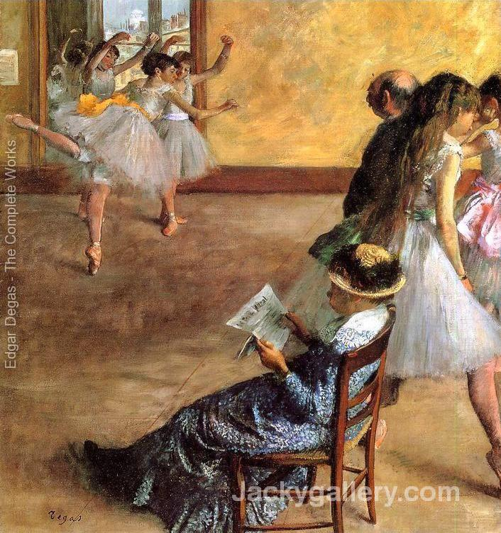 Ballet Class The by Edgar Degas paintings reproduction