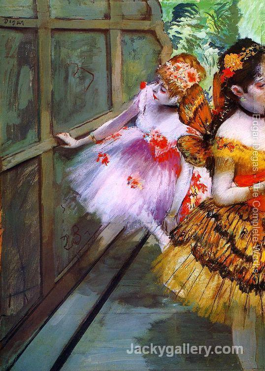 Ballet Dancers in Butterfly Costumes (detail) by Edgar Degas paintings reproduction