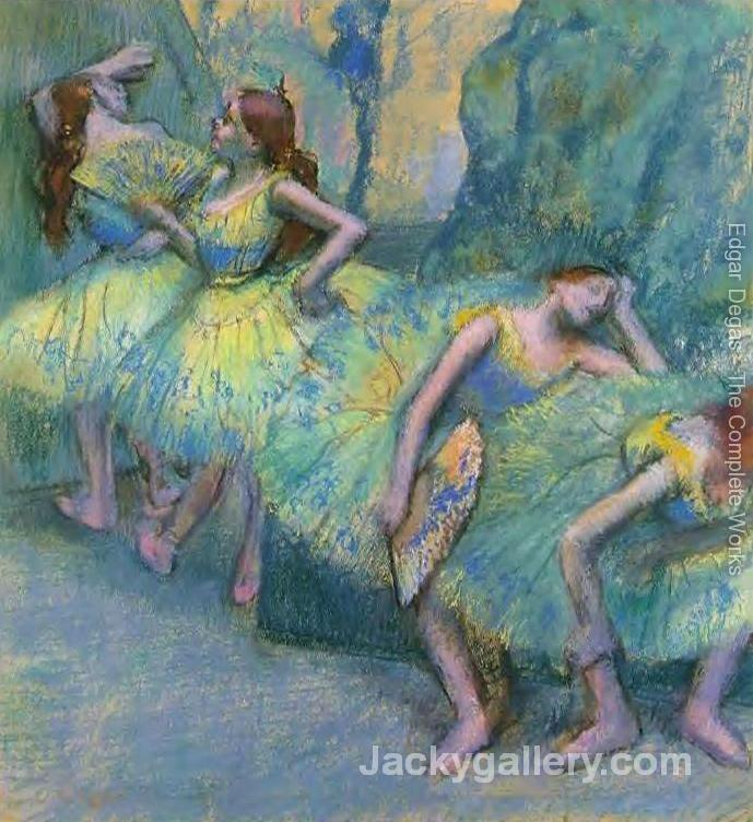 Ballet Dancers in the Wings by Edgar Degas paintings reproduction