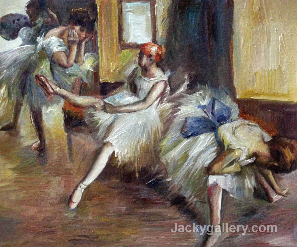 Ballet Rehersal (detail) by Edgar Degas paintings reproduction