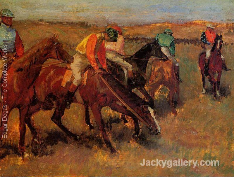 Before the Race II by Edgar Degas paintings reproduction