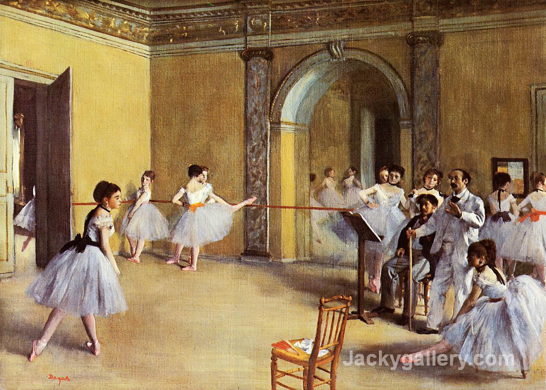Dance Class at the Opera by Edgar Degas paintings reproduction