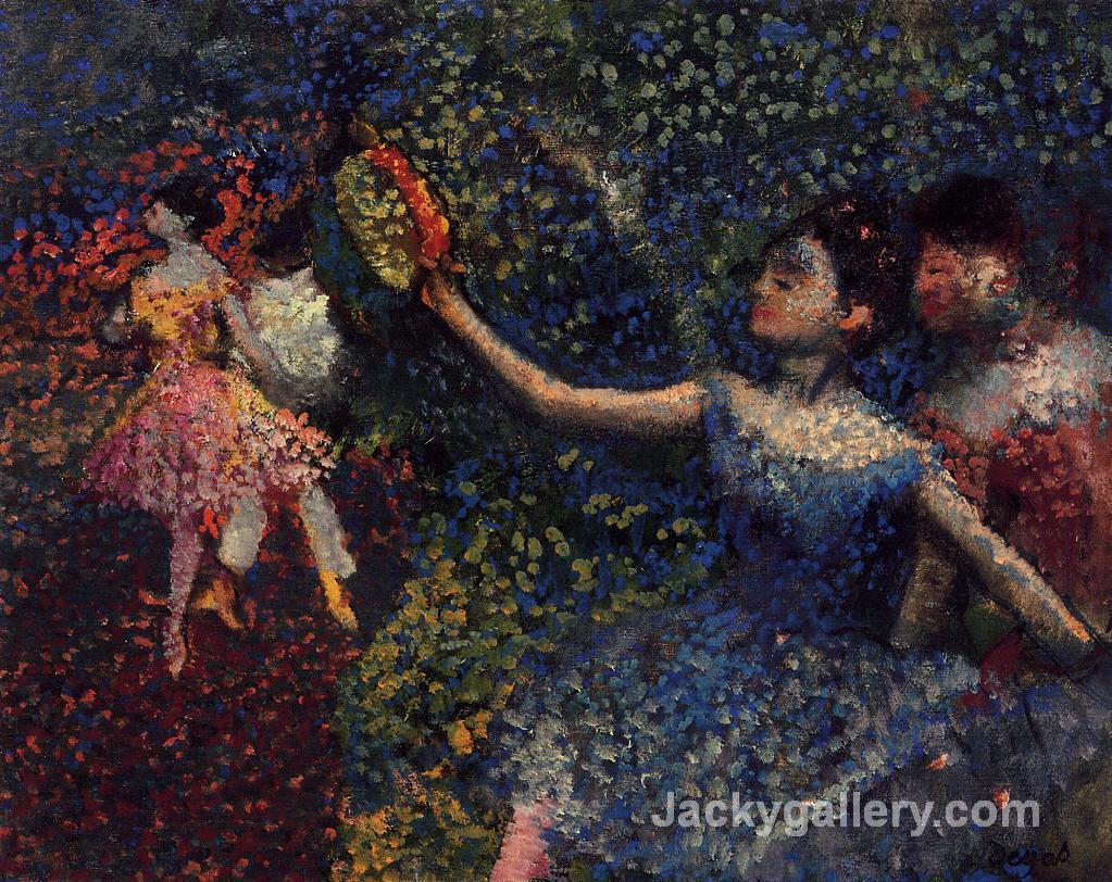 Dancer and Tambourine by Edgar Degas paintings reproduction