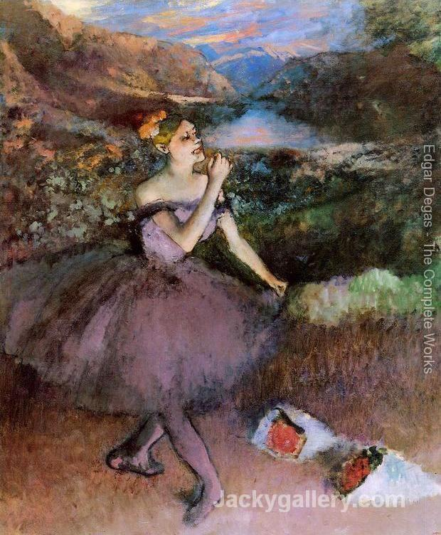 Dancer with Bouquets by Edgar Degas paintings reproduction