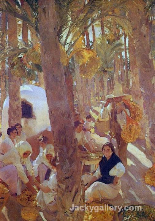 The Palm Grove by Joaquin Sorolla y Bastida paintings reproduction