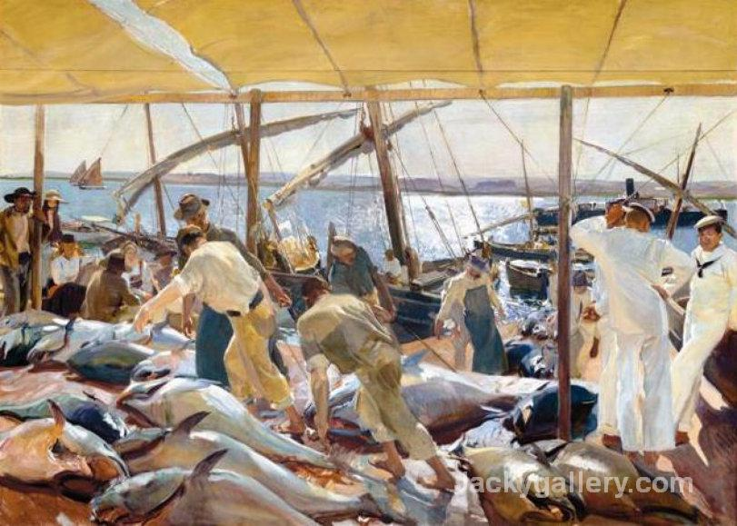 The Tuna Catch by Joaquin Sorolla y Bastida paintings reproduction