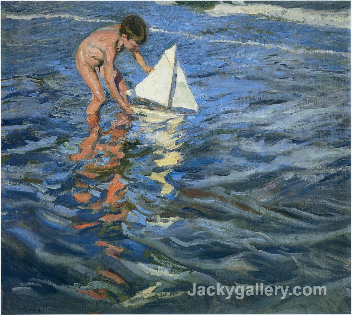 The Young Yachtsman by Joaquin Sorolla y Bastida paintings reproduction