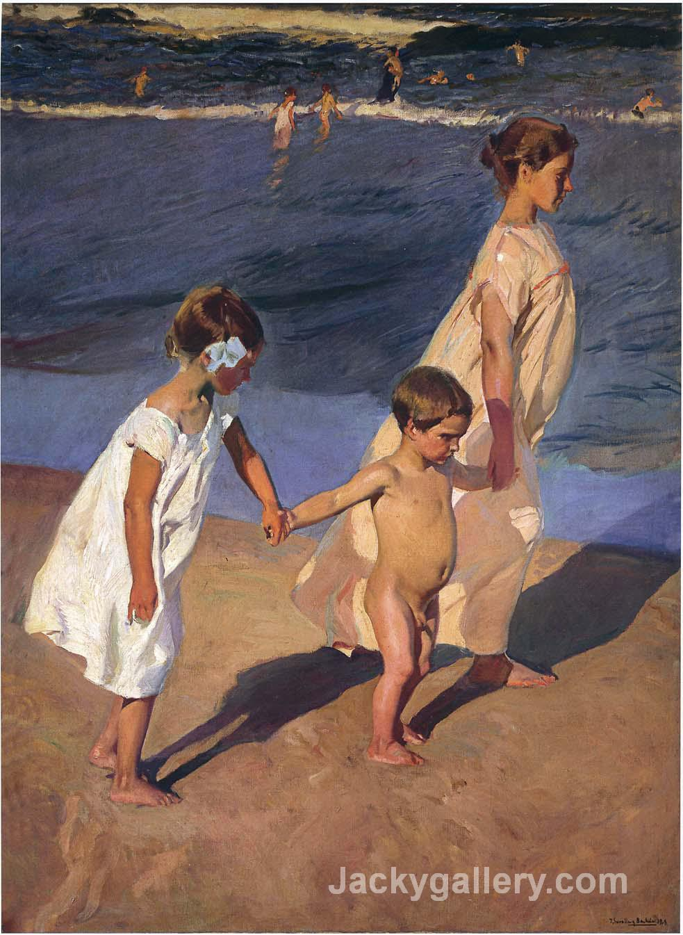 To the Water, Valencia by Joaquin Sorolla y Bastida paintings reproduction