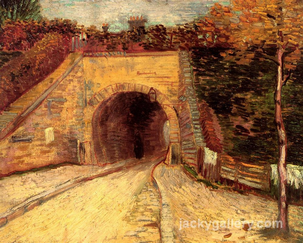 Roadway with Underpass The Viaduct, Van Gogh painting