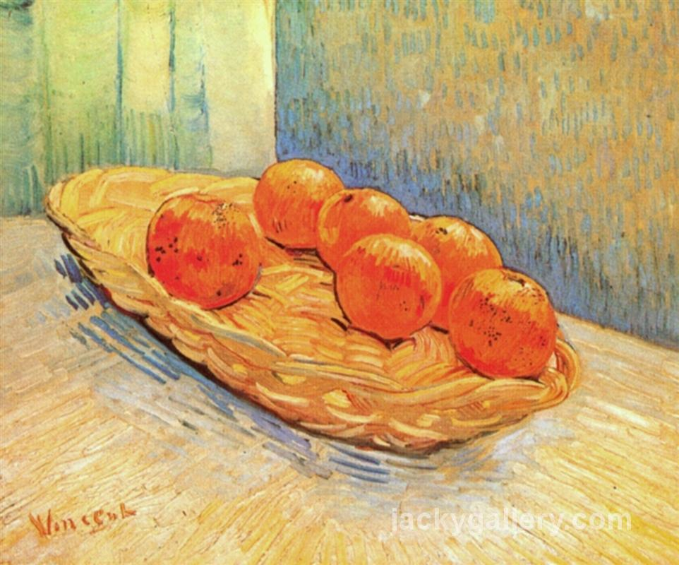 Still Life with Basket and Six Oranges, Van Gogh painting