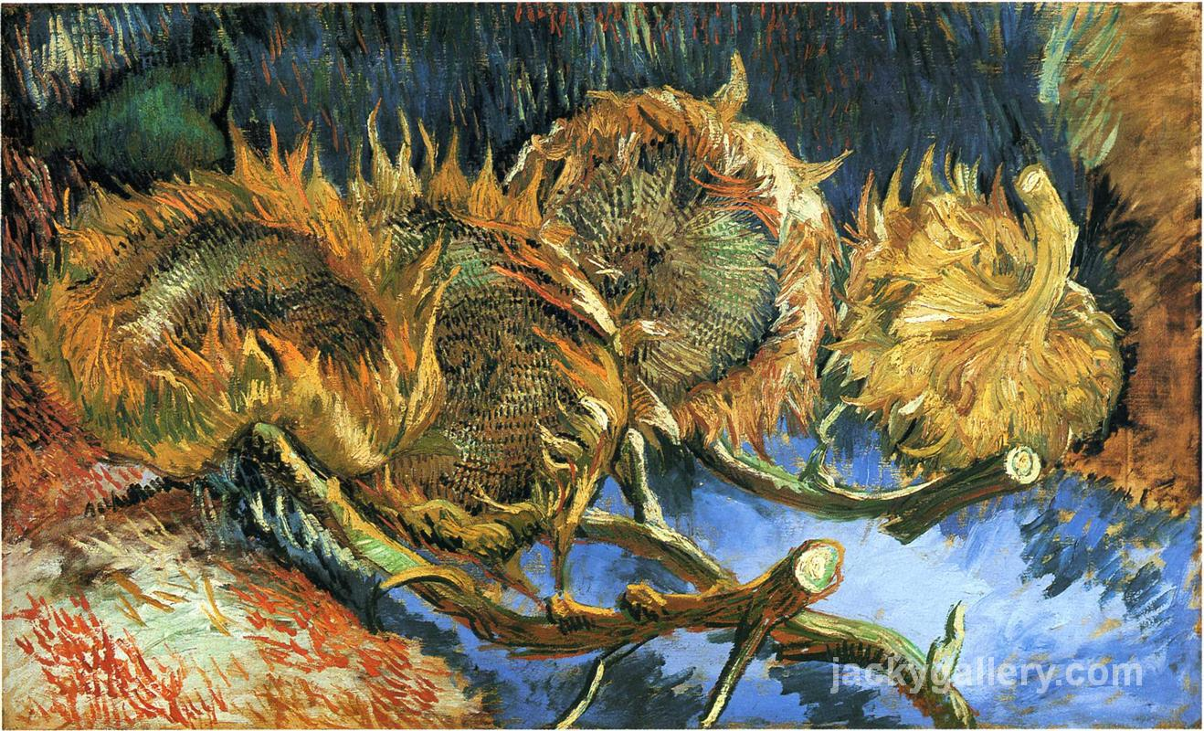 Still Life with Four Sunflowers, Van Gogh painting