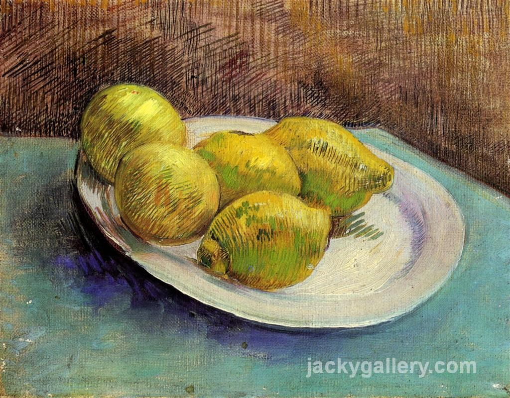 Still Life with Lemons on a Plate, Van Gogh painting