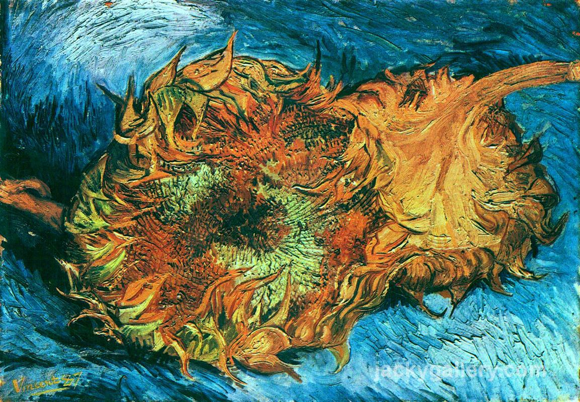 Still Life with Two Sunflowers, Van Gogh painting